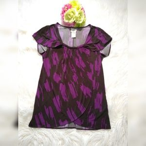 ICE RARE BLOUSE BROWN & PINK, SIZE M